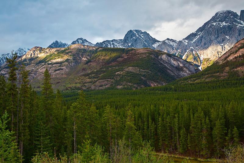 Canadian Rockies, Kananaskis Country, Peter Lougheed Provincial Park, Sunset, Landscape,  加拿大, 洛矶山脉, 风景