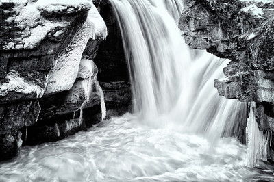 Elbow Falls starting to freeze.