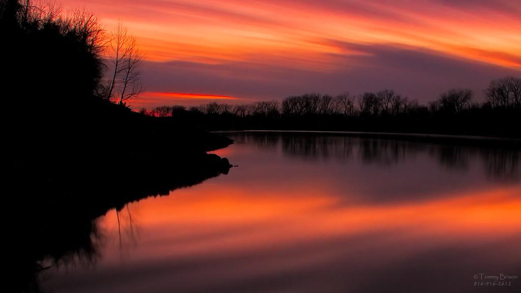 Missouri River Wallpaper Kansas City Landscape Photography