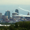 The Blue Angels blow smoke past downtown KC.