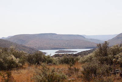 Vanderkloof dam - in the Orange River, South Africa