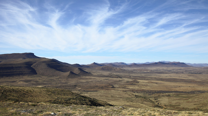 Landscape from the top of Lootsberg pass, South Africa.  I love the clean lines of landscapes int he Karoo.