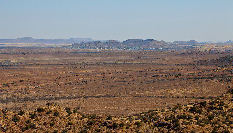 Landscape with Petrusville in the background, South Africa
