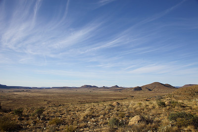 Landscape from the top of Lootsberg pass, South Africa