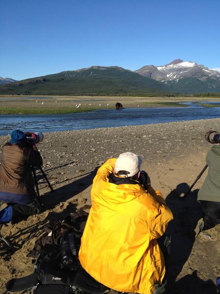 Katmai-Alaska-Kukak-Bay-Grizzly-Brown-Bears-John with bears shooting