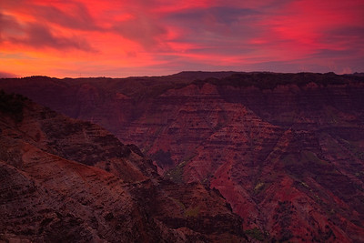 Waimea Canyon at Dusk