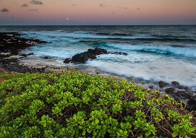 Kapaa Moonrise, Kauai, HI.