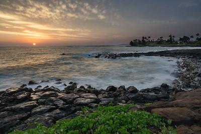 Poipu Sunset, Kauai, HI.