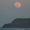 Moonrise over Kilauea Lighthouse, Kauai, HI.