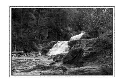 Kent Falls, Black and White
