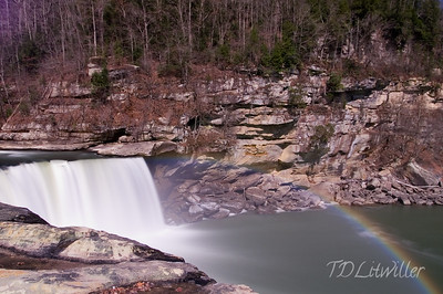 Moonbow taken at 8:30pm.  Cumberland Falls.