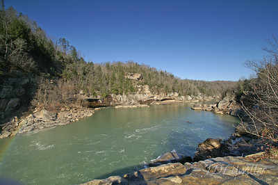 Cumberland Falls, downstream from the falls.