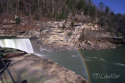 Double moonbow taken at 8:30pm.  Cumberland Falls.