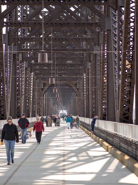 31 March 2013. Big Four Bridge, Louisville, KY.