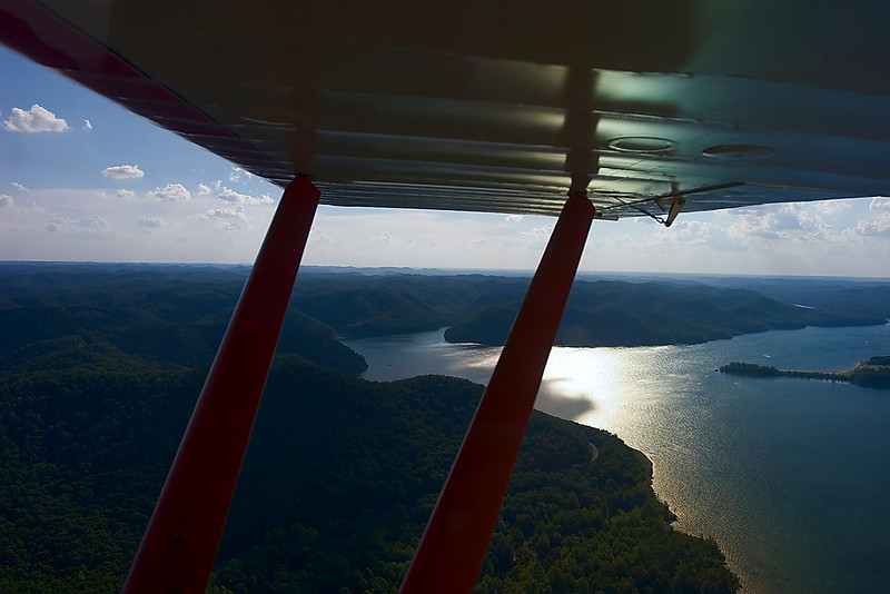 8-8-8.  Cave Run Lake from 3500 feet.