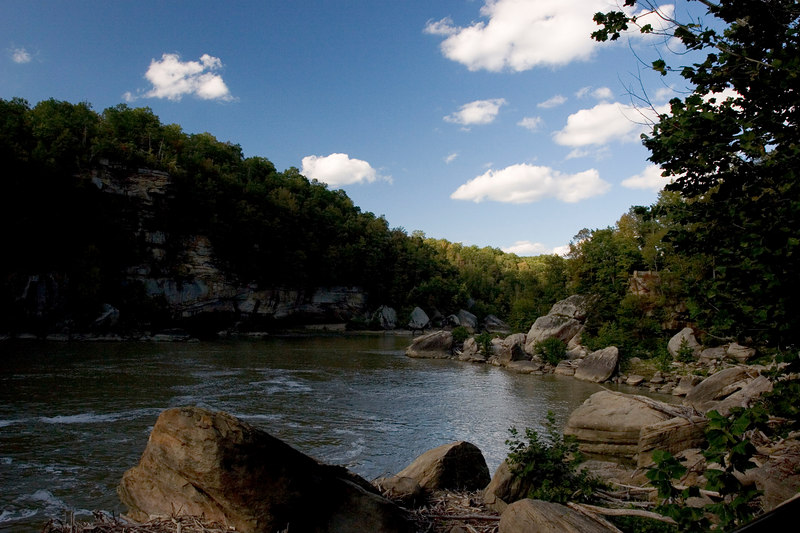 Downriver of Cumberland Falls, Whitley County KY