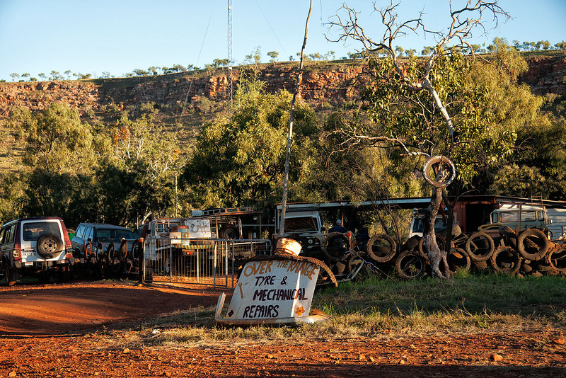 Imintji Roadhouse and basic repairs on the Gibb River Road