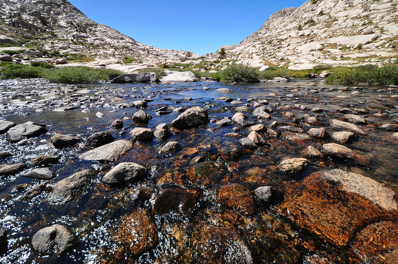Sapphire Lake Outlet, Evolution Basin, Kings Canyon National Park.