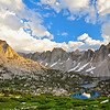 Kearsarge Pinnacles, University Peak, Kearsarge Lakes, Kings Canyon National Park.
