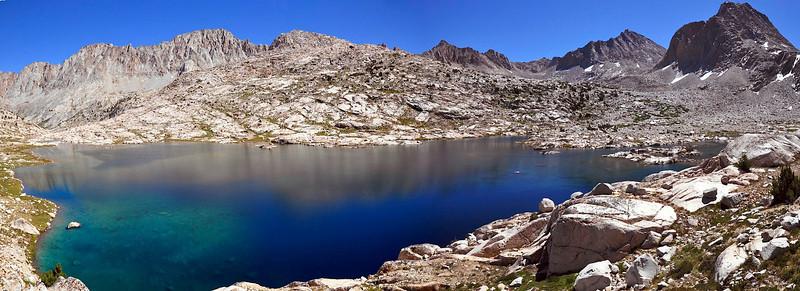 Sapphire Lake Panorama, Evolution Basin, Kings Canyon National Park.
