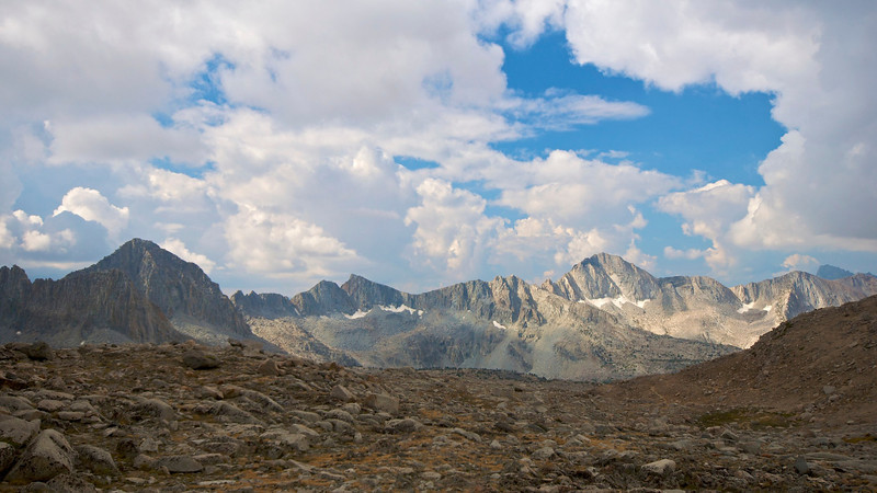 Black Divide, from Bishop Pass, Kings Canyon National Park