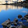 Dawn, Mt. Ruskin, Cartridge Pass, Lake Marjorie, Kings Canyon National Park.