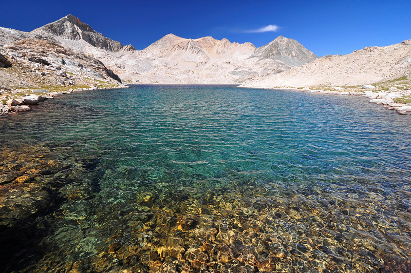Unnamed Lake west of Muir Pass, Kings Canyon National Park.