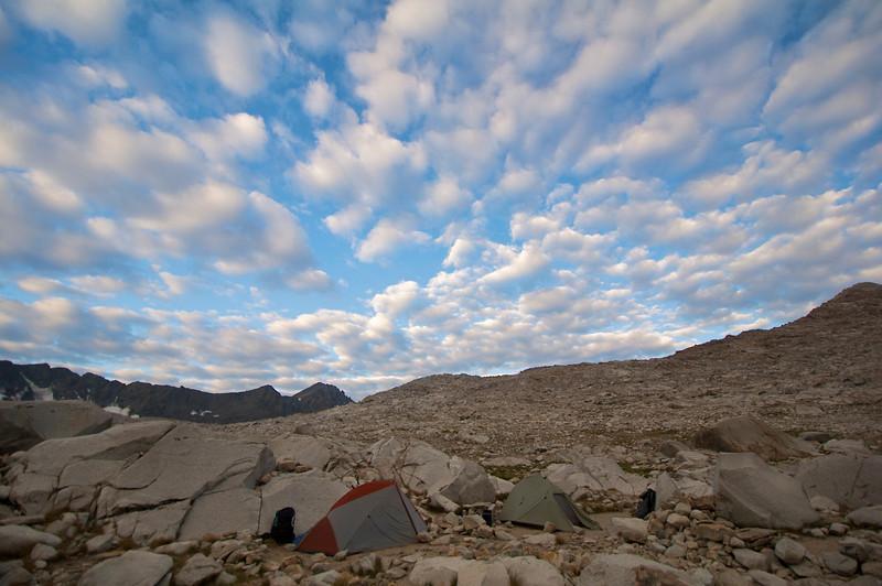 Campsite, Wanda Lake, Kings Canyon National Park
