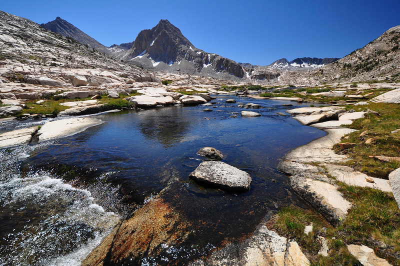 Saphire Lake outlet, Kings Canyon National Park.
