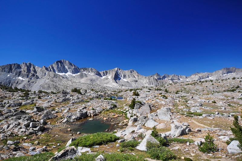 Dusy Basin, south of Bishop Pass, Kings Canyon National Park.