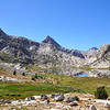 Mt. Spencer, Mt. Huxley, Evolution Basin, Kings Canyon National Park.
