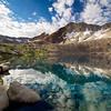 Dawn, Pinchot Pass, Crater Mountain, Lake Marjorie, Kings Canyon National Park.