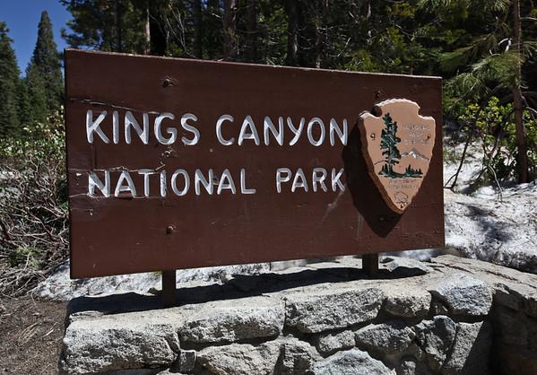 Kings Canyon National Park entrance sign