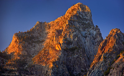 Towering Peaks 3,000 feet over the South Fork of the Kings River in the Sequoia National Forest