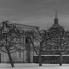 Snow Twigs.<br /> Kongens Have, Herkules Pavillionen, Marmorkirken, Copenhagen, Denmark.