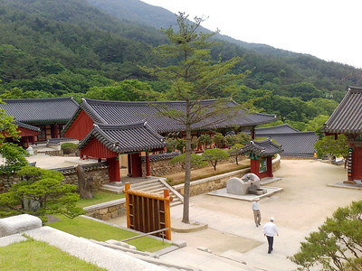 Overlooking the Gakhwangjeon Pavilion at the Hwaeomsa Temple in Jirisan National Park.  1 June 2013