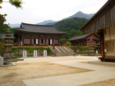 The Gakhwangjeon Pavilion at Hwaeomsa Temple in Jirisan National Park.  1 June 2013