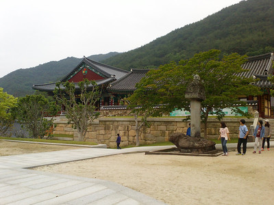 A view of the entrance to the Hwaeomsa Temple at Jirisan National Park.  1 June 2013