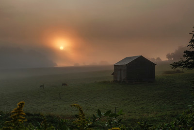 Burning Fog Barn