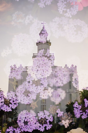 St. George Temple Double Exposure
