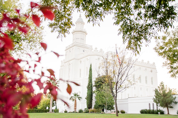 St. George Temple in Fall