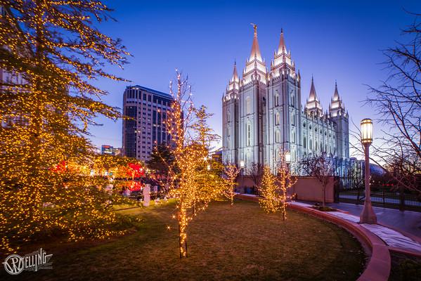salt lake city lds temple christmas lights