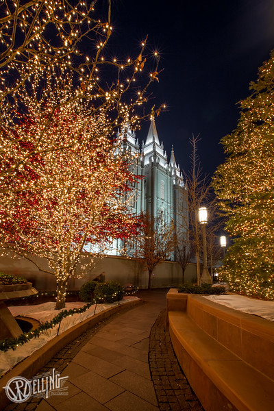 LDS Salt Lake City Temple during Christmas Time, Salt Lake City, UT