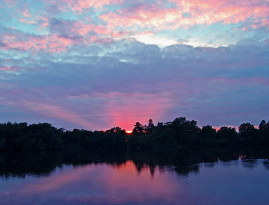 Hartsholme Park sunset, Lincoln