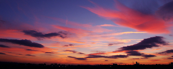 Big sky sunset over Lincoln from near Greetwell Quarry