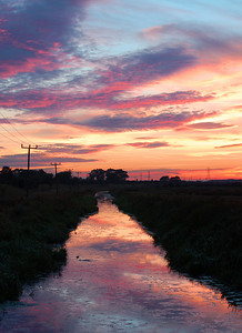 Fenland sunset near Washingborough, Lincoln
