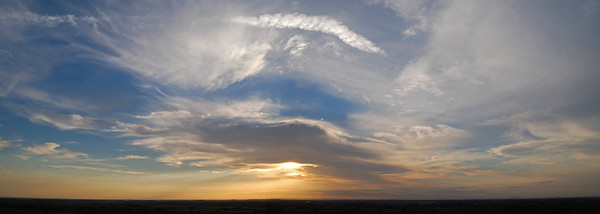 A 2 shot photomerge panorama just before sunset from Bracebridge Heath