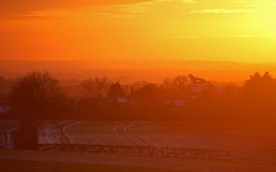 Benniworth in low Winter sun
