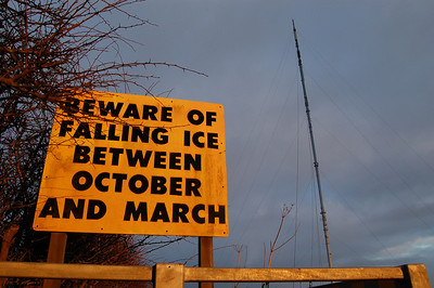 Unique warning sign below Belmont Mast!