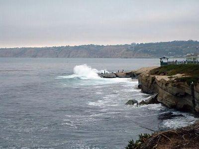 waves striking rock -- La Jolla, 28 Jun 2003